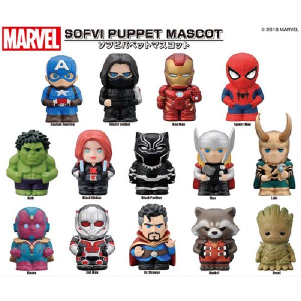 ENSKY 漫威MARVEL 角色軟膠公仔 全14種 一中盒14入販售 ENSKY,MARVEL,漫威角色公仔