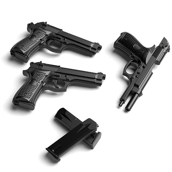 Tomytec 1/12 迷你武裝 LA049 M9&M93R 貝瑞塔93R手槍 Tomytec,1/12,迷你武裝,LA049,M9,M93R,貝瑞塔M9手槍