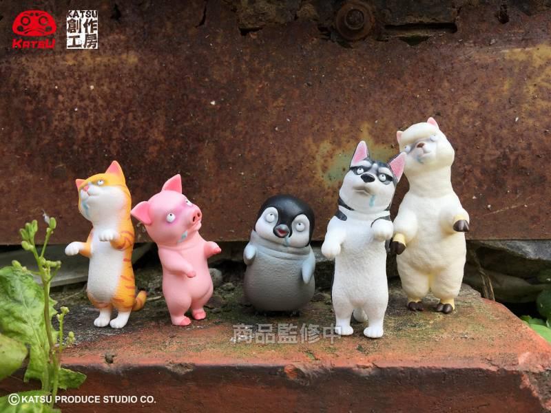 KATSU創作工房 扭蛋 殭屍動物樂園 第二彈 全五種販售 KATSU創作工房,扭蛋,殭屍動物樂園,第二彈