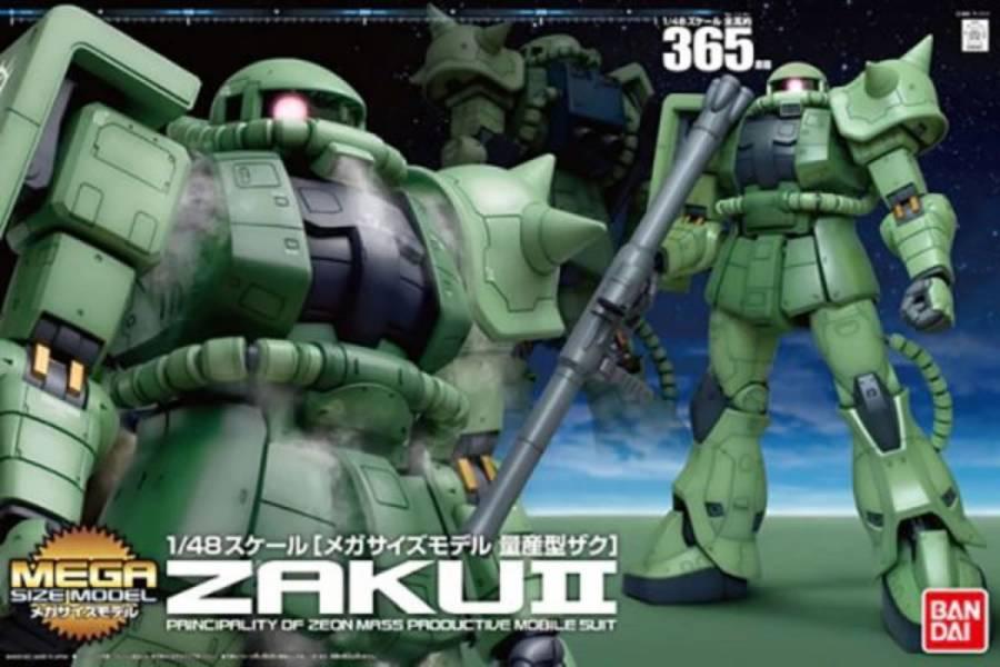 BANDAI MEGA SIZE 1/48 MS-06F ZAKU II 量產型薩克 綠薩克 機動戰士鋼彈 組裝模型 BANDAI,MEGA SIZE,1/48,MS-06F ZAKU II,綠薩克,量產型薩克