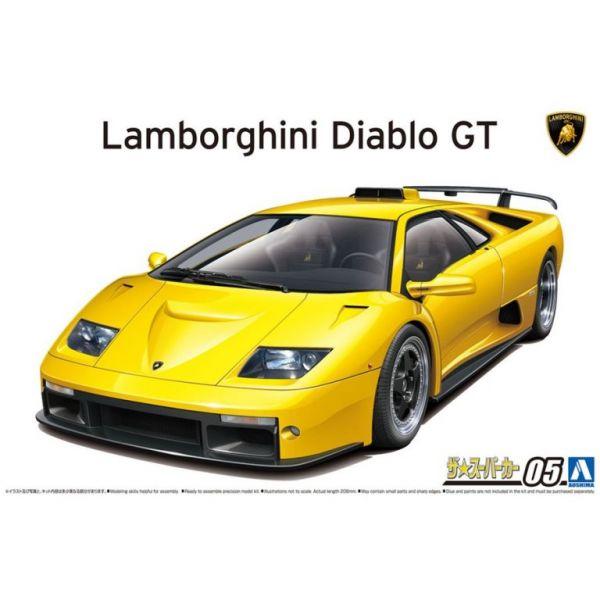 [再販] AOSHIMA 青島 1/24 超級跑車 #05 藍寶堅尼 Lamborghini Diablo GT'99  組裝模型 [再販],AOSHIMA,青島,1/24,超級跑車,#05,藍寶堅尼, Lamborghini Diablo,GT'99, 組裝模型,