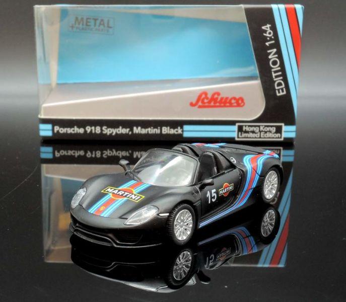 TINY 1/64 保時捷Porsche 918 Spider Martini 黑 香港特別版 合金完成品 TINY,1/64,保時捷,Porsche 918 Spider Martini,香港特別版