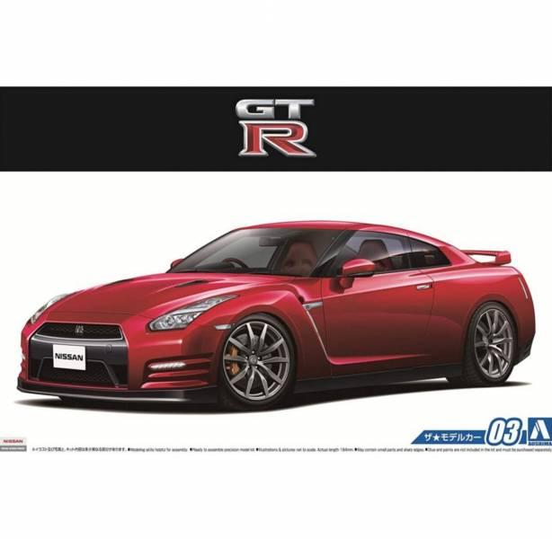 AOSHIMA 1/24 模型車 #3 日產 R35 GT-R Pure Edition'14 組裝模型 AOSHIMA ,1/24 ,模型車 ,#3 ,日產 ,R35 ,GT-R Pure Edition'14 ,組裝模型