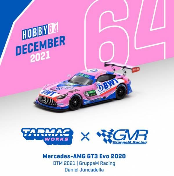 TARMAC WORKS 1/64 賓士AMG GT3 Evo 2020 DTM 2021 合金車   TARMAC WORKS,1/64,賓士AMG,GT3,Evo 2020 DTM 2021,合金車,