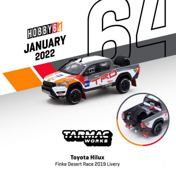 TARMAC WORKS 1/64 豐田 Hilux Finke 沙漠賽2019 Livery 合金車   TARMAC WORKS,1/64,豐田,Hilux Finke,沙漠賽2019, Livery,合金車,