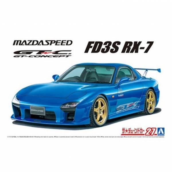AOSHIMA 青島 1/24 改裝車#27 馬自達 FD3S RX-7 A-SPEC GT-C '99 組裝模型 AOSHIMA,青島,1/24,改裝車,#,27,馬自達,FD3S,RX-7,A-SPEC,GT-C,',99,組裝,模型,