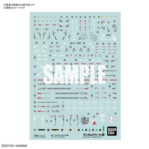 BANDAI 組裝模型 鋼彈水貼紙No.132 RG 1/144 Hi-ν鋼彈用 BANDAI,組裝模型,鋼彈水貼紙,No.132,RG,1/144,Hi-ν鋼彈用,