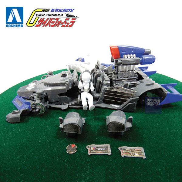 AOSHIMA / 閃電霹靂車 / 阿斯拉 G.S.X / 細節強化改裝套件 / 組裝模型 AOSHIMA,1/24,閃電霹靂車,阿斯拉,G.S.X,細節強化改裝套件