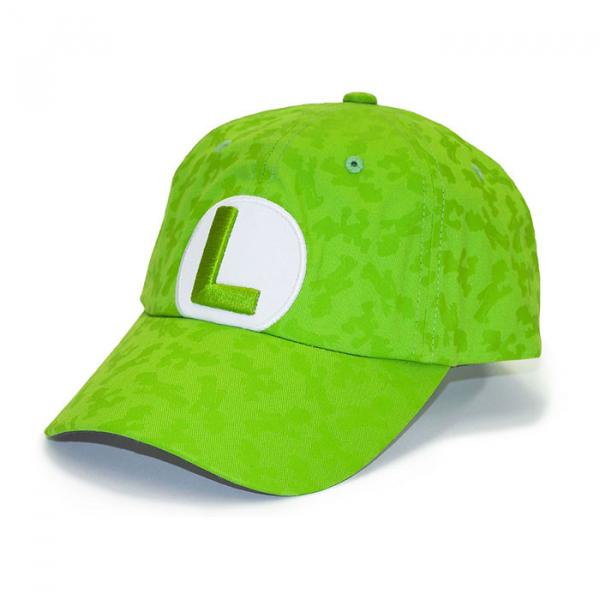 SAN-EI 超級瑪利歐系列 MA06 路易吉 刺繡棒球帽 SAN-EI,超級瑪利歐,路易吉,棒球帽