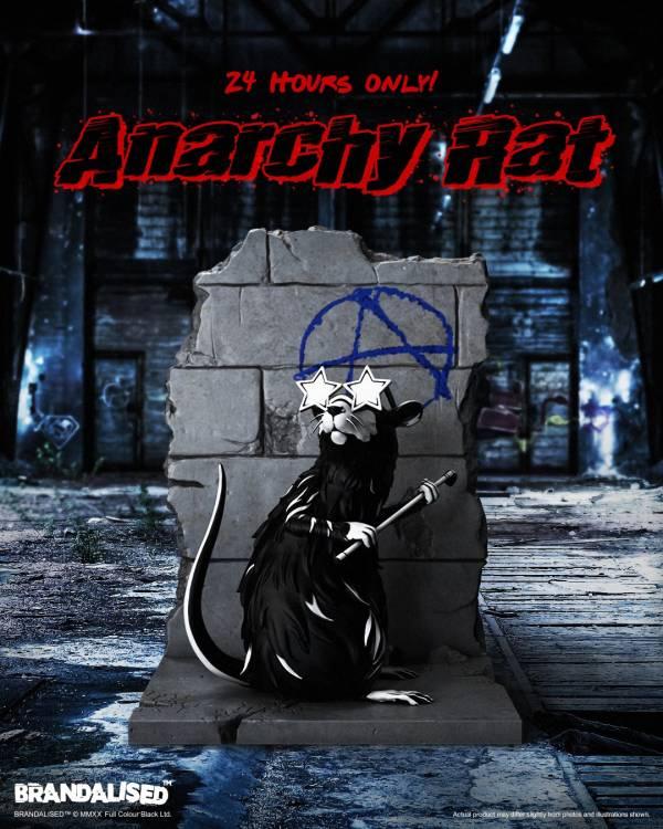 Mighty Jaxx 藝術家系列 Anarchy Rat by Brandalised Mighty Jaxx,藝術家系列,Anarchy Rat by Brandalised