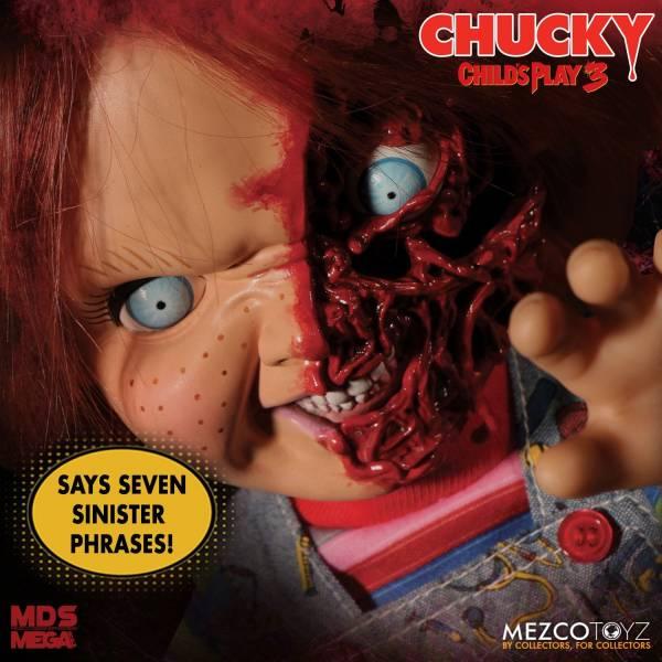 MEZCO TOYZ 鬼娃新娘 鬼娃恰吉 恰吉 披薩臉 可動公仔 Child's Play 3: Talking Pizza Face Chucky MEZCO TOYZ,Child's Play 3,鬼娃新娘,鬼娃恰吉,恰吉 披薩臉,可動公仔
