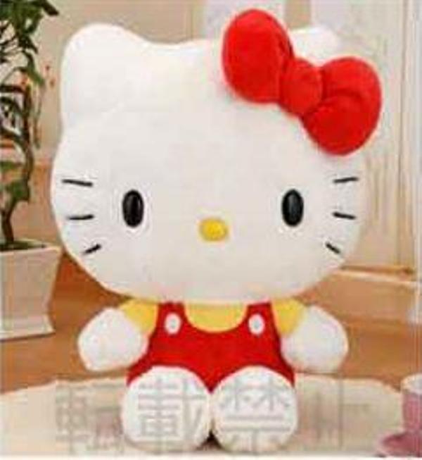 SEGA 景品 三麗鷗 凱蒂貓 紅色工作服 坐姿絨毛玩偶MEJ 34公分  SEGA,景品,三麗鷗,凱蒂貓,紅色工作服,坐姿絨毛玩偶,MEJ,34公分,