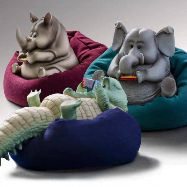 guodong zhao X 末那末匠 懶東西 動物低頭族公仔 全套十款販售 含沙發 guodong zhao,末那末匠,懶東西,動物低頭族公仔