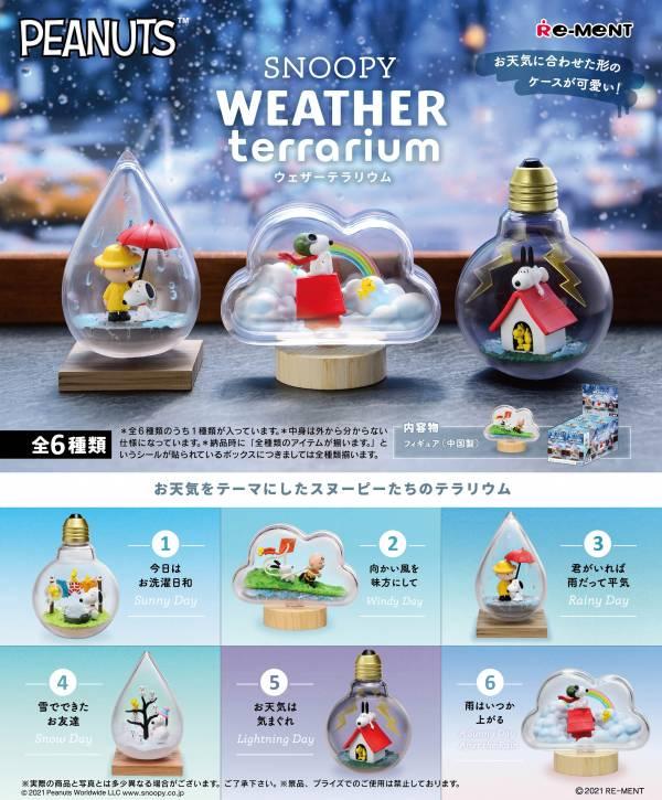 Re-ment 盒玩 史努比天氣盆景品 全6種 一中盒6入販售 Re-ment,盒玩,史努比,天氣盆景品,全6種,一中盒6入販售,