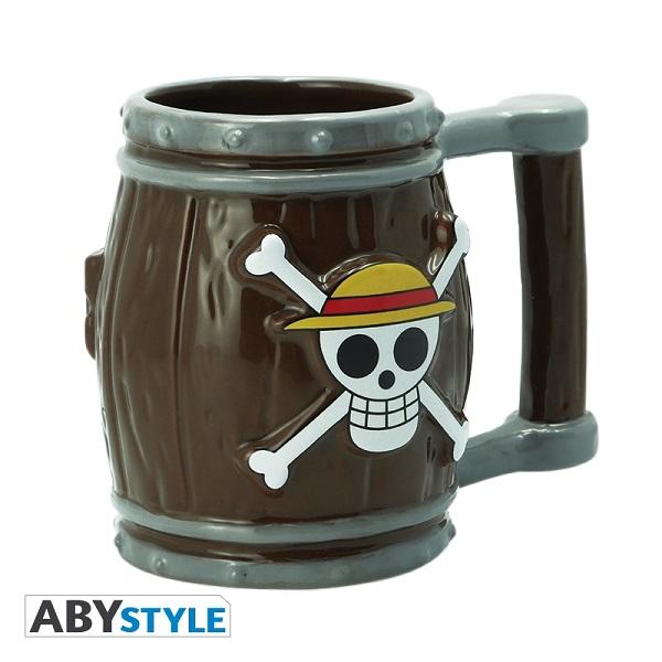 ABY STYLE 航海王 木桶 3D造型馬克杯 一組2入販售 ABY STYLE,航海王,木桶,3D造型,馬克杯