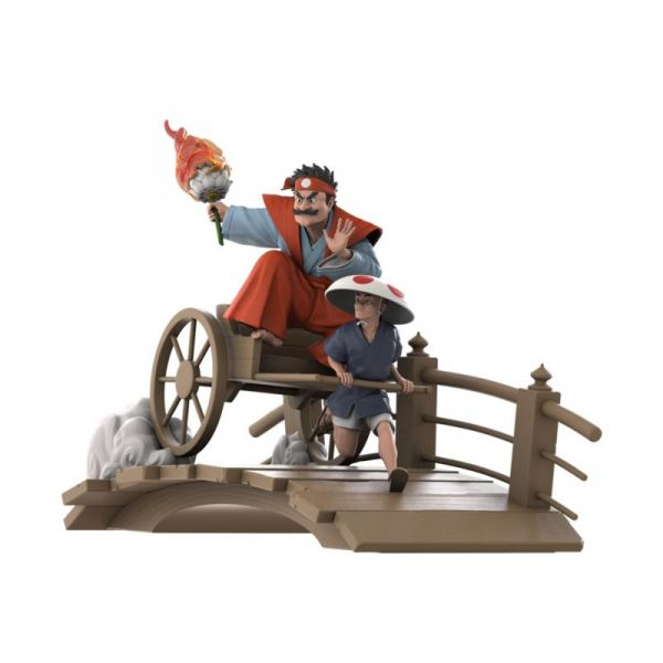 Mighty Jaxx 浮世繪 人力車卡丁車 蘑菇將軍 限量版 雕像 Mighty Jaxx,浮世繪,人力車卡丁車,蘑菇將軍,限量版,雕像,