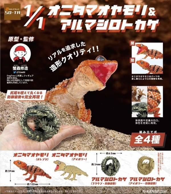 SO-TA 扭蛋 1比1 鬼玉尾守宮與犰狳蜥 全4種 隨機4入販售 SO-TA,扭蛋,1比1,鬼玉尾守宮,與,犰狳蜥,全4種,隨機4入販售,