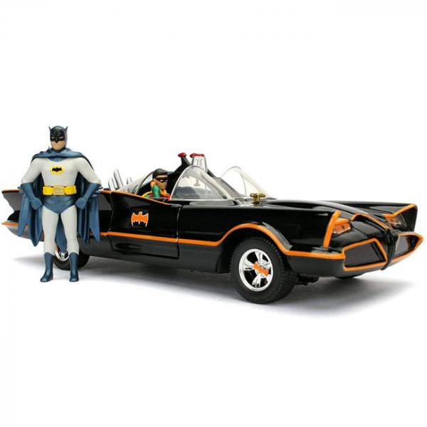 JADA 1/24 合金系列 DC 蝙蝠俠 電視系列 1966 經典蝙蝠車 含蝙蝠俠 羅賓 JADA,Metals,1/24,合金系列,DC,蝙蝠俠,電視系列,1966經典蝙蝠車
