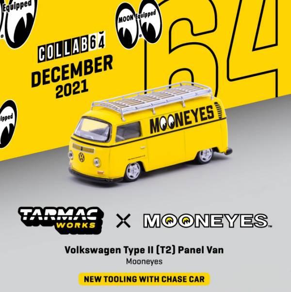 TARMAC WORKS 1/64 福斯 TypeII (T2) 箱型車 Mooneyes w/車頂架 合金車 TARMAC WORKS,1/64,福斯,TypeII,(,T2,),箱型車, Mooneyes,w/車頂架,合金車,