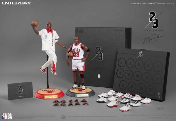 [全球限量 含14雙Air Jordan球鞋] ENTERBAY 1/6 NBA 芝加哥公牛隊 麥可喬丹 Michael Jordan 主場終極版 ENTERBAY,1/6,NBA,芝加哥公牛隊,麥可喬丹,Michael Jordan,主場終極版,籃球之神,籃球大帝,23號