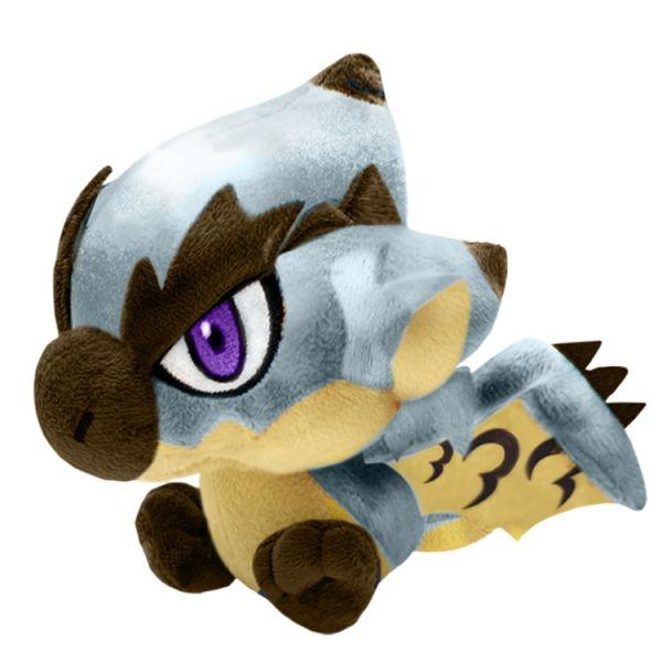 CAPCOM 魔物獵人世界 銀火龍 絨毛玩偶  CAPCOM,魔物獵人世界,絨毛玩偶,金火龍,銀火龍,獄狼龍