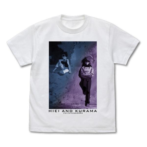 [再販] COSPA 幽☆遊☆白書 飛影&蔵馬 短袖T恤 白色  [,再販,],COSPA,幽☆遊☆白書,飛影&蔵馬,短袖T恤,白色,