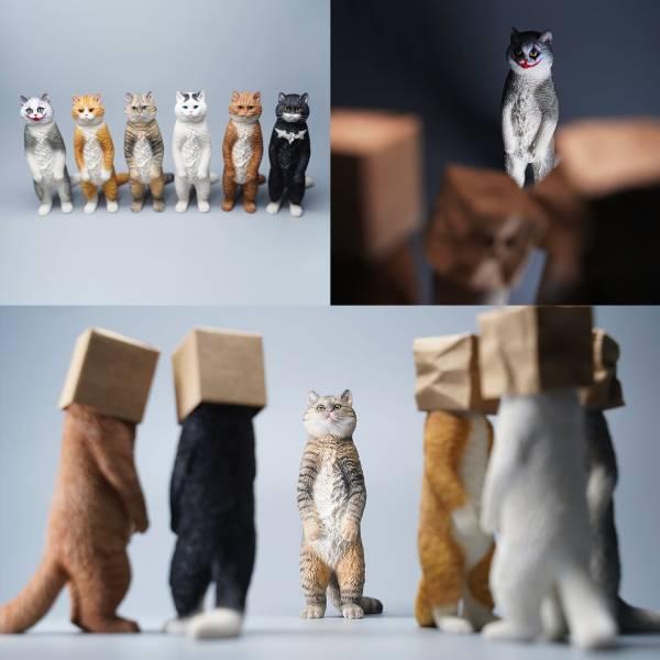JXK 1/6 罰站貓 英國短毛貓 含頭套 A-F 全6種 分別販售  JXK,1/6,罰站貓,英國短毛貓,含頭套,A-F,全6種 分別販售 ,貓