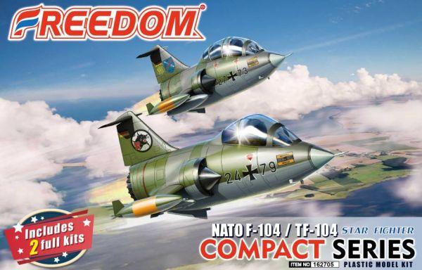 Freedom COMPACT SERIES 蛋機 F-104G & TF104 德國空軍 塗裝 NATO北约 2入套裝 組裝模型 Freedom,COMPACT SERIES,蛋機,F-104G,TF104,德國空軍,NATO,北约