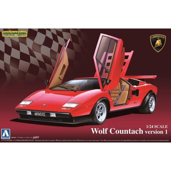 青島 1/24 青島 藍寶堅尼 Lamborghini Wolf Councac version 1 組裝模型 AOSHIMA  AOSHIMA,1/24,LAMBORGHINI,Huracan,LP610-4,藍寶堅尼