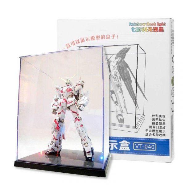 模星社 VT-040 鋼彈模型透明壓克力展示盒 適用MG HG大小 含彩色變化燈光 適用公仔/扭蛋 模星社,VT-040,鋼彈模型展示盒,彩色燈,MG,HG