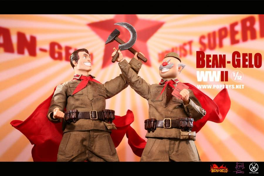 POPTOYS 1/12 大頭兵系列 第五彈 BGS019 社會主義 戰士雙人套組 POPTOYS,1/12,大頭兵系列,第五彈,BGS019,社會主義, 戰士雙人套組,