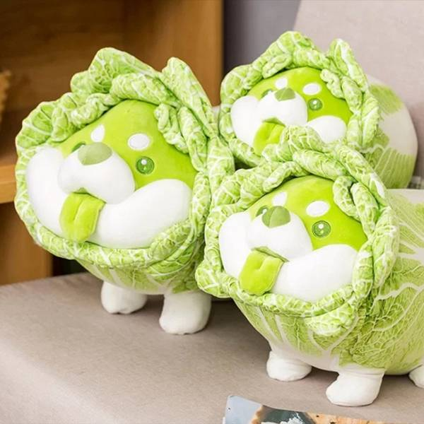 DODOWO 野菜妖精玩偶 白菜狗 白菜狗勾 全3種尺寸 分別販售 DODOWO,野菜妖精玩偶,白菜狗,白菜狗勾,全3種尺寸, 分別販售