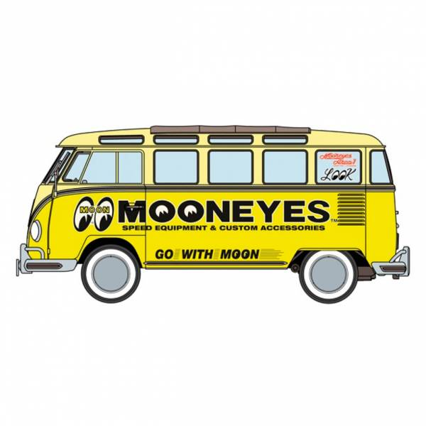 HASEGAWA 1/24 福斯 Type2 小巴士 Mooneyes HASEGAWA,1/24,福斯,VW,Type2,小巴士,Mooneyes