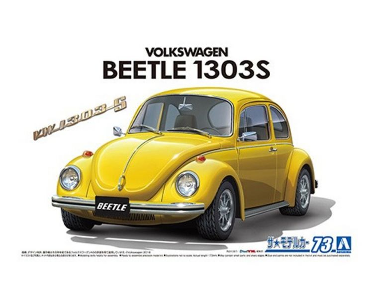 AOSHIMA 青島 1/24 #73 福斯 13AD Beetle 1303S '73 組裝模型 AOSHIMA,青島,1/24,#,73,福斯,13,AD,Beetle,1303,S,',73,組裝,模型,