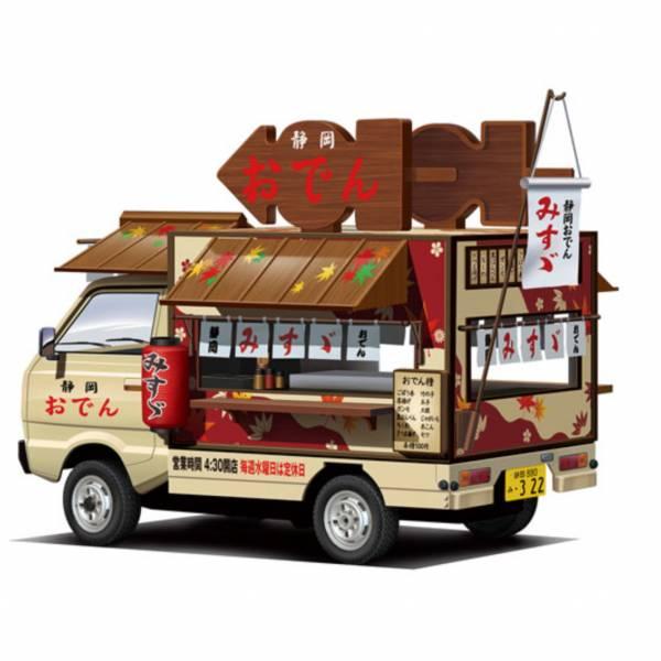 AOSHIMA 青島 1/24 行動餐車 #3 靜岡煮 關東煮 組裝模型  AOSHIMA,青島,1/24,行動餐車, #3,靜岡煮,關東煮,組裝模型,
