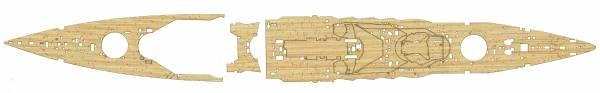 1/700 戰艦 陸奧 木甲板 含艦名展示銘牌 FUJIMI 特33EX1 日本海軍 富士美 組裝模型 FUJIMI,1/700,GUP,日本海軍,戰艦,陸奧,蝕刻片,木甲板,