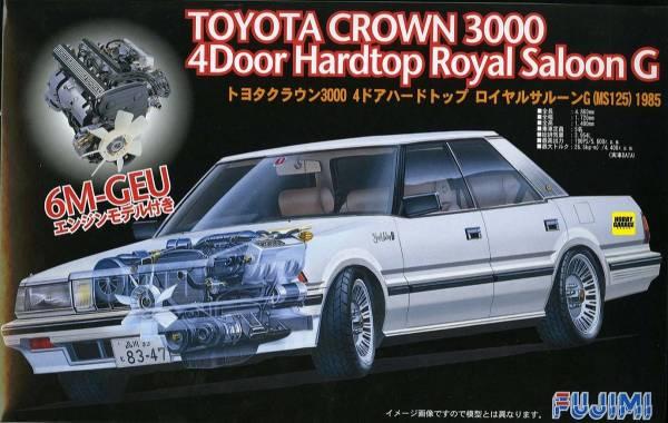 1/24 TOYOTA CROWN 3000 四門 Royal Saloon G 附引擎 FUJIMI ID155 富士美 組裝模型 FUJIMI,1/24,ID,TOYOTA,CROWN,3000,四門,Royal,Saloon G,引擎,