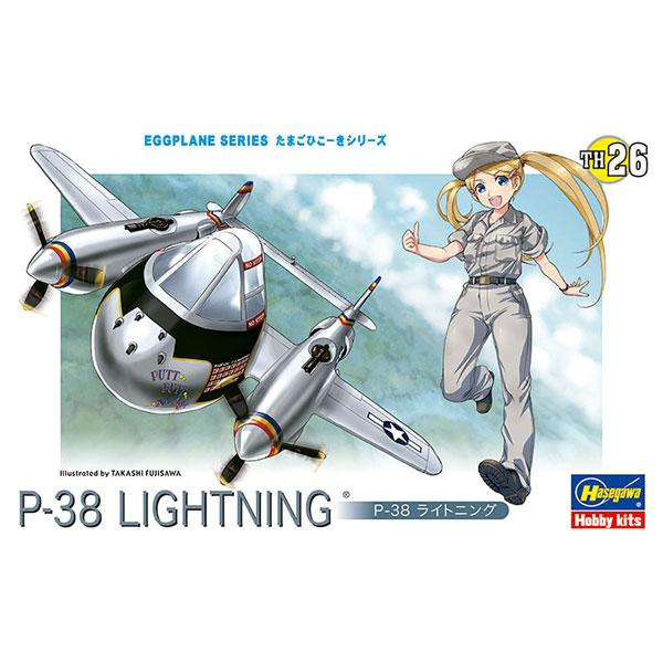 Hasegawa 蛋機 P-38閃電式戰鬥機 組裝模型 Hasegawa,蛋機,P-38閃電式戰鬥機