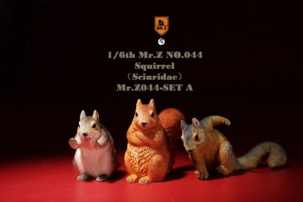 MR.Z 模擬動物模型 第44彈 金鼠迎春 小松鼠套裝 A套組 Mr.Z,模擬動物模型,第44彈,金鼠迎春,小松鼠套裝,A套組