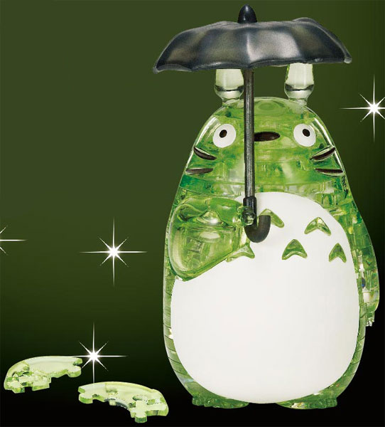 [再販] BEVERLY 宮崎駿 龍貓 水晶立體拼圖 綠ver. BEVERLY,宮崎駿,龍貓水晶立體拼圖綠ver.