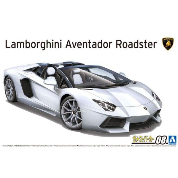 [再販] AOSHIMA 1/24 超級跑車 #08 藍寶堅尼 Lamborghini Aventador LP700-4 Roadster  組裝模型 AOSHIMA ,1/24 ,超級跑車 ,#08 ,藍寶堅尼 ,Lamborghini ,Aventador ,LP700-4 Roadster , 組裝模型