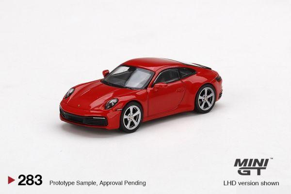 MINIGT 1/64 保時捷 911 (992) Carrera S 紅 左駕  MINIGT,1/64,保時捷,911,(,992,),Carrera S,紅,左駕,