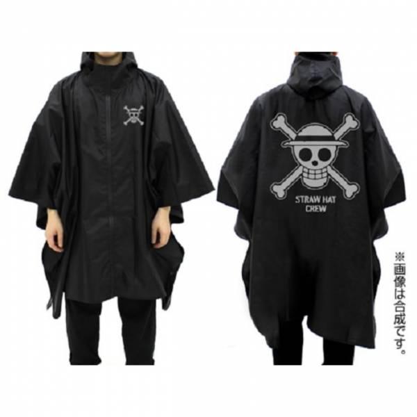 [再販] COSPA 海賊王 草帽海賊團 防水式斗篷雨衣 黑色 COSPA ,海賊王,草帽海賊團,快乾,抗UV,短袖T恤,黑色