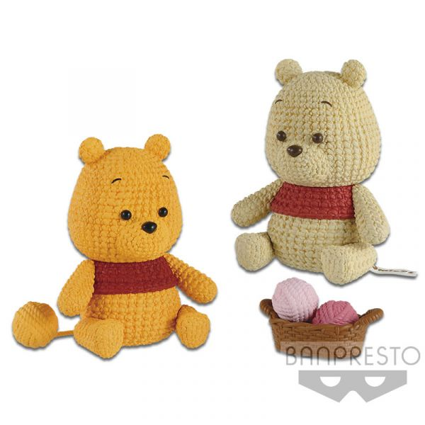 Banpresto 景品 迪士尼 編織小熊維尼 全2種 個別販售 Banpresto,景品,迪士尼,編織小熊維尼
