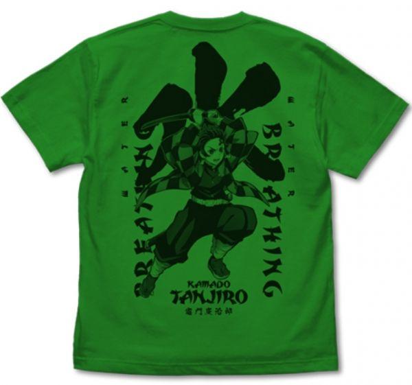 COSPA 鬼滅之刃 水之呼吸 竈門炭治郎 短袖T-shirts 綠色  COSPA,鬼滅之刃,水之呼吸,竈門炭治郎,短袖,T-shirts,綠色,
