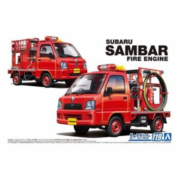 AOSHIMA 1/24 #119 速霸陸 TT2 SAMBAR 消防車 '11 組裝模型 AOSHIMA,1/24,#,119,速霸陸,TT2,SAMBAR,消防車,'11,組裝,模型,