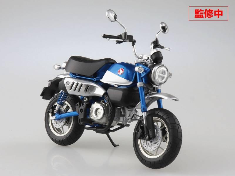 AOSHIMA 青島 1/12 機車 本田Honda Monkey125 珠光藍 完成品 AOSHIMA,青島,1/12,機車,本田,Honda,Monkey,125,珠光藍,完成品,