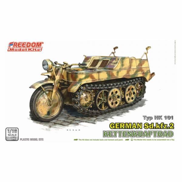 Freedom 1/16 二戰德軍半履帶摩托車 WW2 German Sd.Kfz.2 Kettenkraftrad 組裝模型  Freedom,1/16,二戰德軍半履帶摩托車,WW2,German Sd.Kfz.2 Kettenkraftrad,組裝模型,
