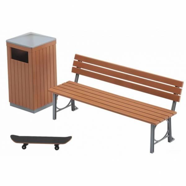 [再販] HASEGAWA 1/12 FA10 公園的長椅和垃圾箱 組裝模型 HASEGAWA,1/12,公園的長椅和垃圾箱,組裝模型