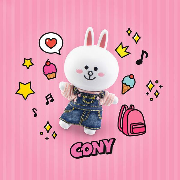 Topi P-Style LINE FRIENDS CONY兔兔 休閒裝Ver. 可動公仔 Topi,P-Style LINE FRIENDS,CONY兔兔,休閒裝Ver.